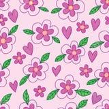 Kwiatu liścia batika purpury kochają akwarela bezszwowego wzór royalty ilustracja