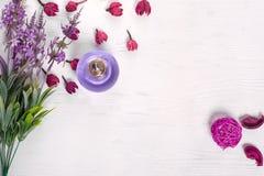 Kwiatu lily pachnidło zdjęcie stock