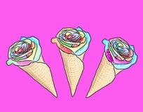 Kwiatu lody Fotografia Royalty Free