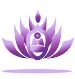 kwiatu loga lotosu joga Zdjęcia Royalty Free
