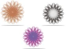 Kwiatu logo Ustawia 2 Obrazy Stock