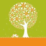 kwiatu lovebirds wiosny drzewo ilustracja wektor