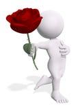 kwiatu mężczyzna royalty ilustracja