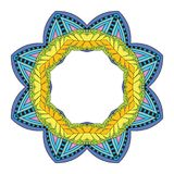 Kwiatu mandala Obrazy Stock