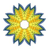 Kwiatu mandala Obrazy Royalty Free