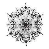 Kwiatu mandala elementu dekoracyjny rocznik Zdjęcia Stock