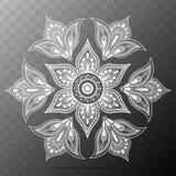 Kwiatu mandala Orientała Deseniowy wektor Zdjęcia Stock