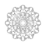 Kwiatu mandala ornamentu dekoracyjny rocznik Zdjęcie Royalty Free