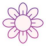 Kwiatu mieszkania ikona Kwieciste purpurowe ikony w modnym mieszkanie stylu Okwitnięcie gradientu stylu projekt, projektujący dla royalty ilustracja