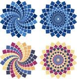 kwiatu mozaiki wektor Obrazy Stock