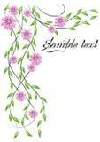 kwiatu narożnikowy ornament royalty ilustracja