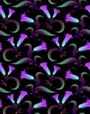 kwiatu noc wzór bezszwowy Obraz Royalty Free