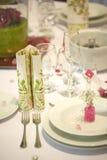 kwiatu obiadowy stół Fotografia Royalty Free