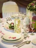 kwiatu obiadowy stół Zdjęcie Royalty Free