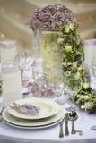 kwiatu obiadowy stół Obraz Royalty Free