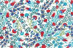 Kwiatu obrazu sztuki wzór na ścianie w parku Fotografia Royalty Free