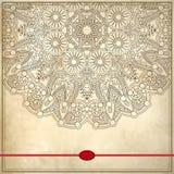 Kwiatu okręgu projekt na grunge tle z Obrazy Royalty Free