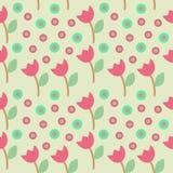 Kwiatu okręgu Seamleaa wzór Zdjęcia Stock