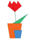 kwiatu origami Zdjęcie Royalty Free