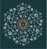 kwiatu ornament royalty ilustracja