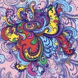 Kwiatu ornament. Abstrakcjonistyczny tło. Fotografia Stock