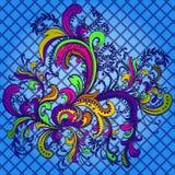 Kwiatu ornament. Abstrakcjonistyczny tło. Obraz Stock