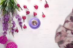 Kwiatu pachnidła chusta zdjęcia royalty free