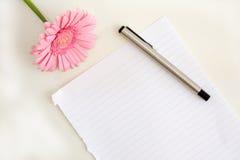 kwiatu papieru pióro Fotografia Stock