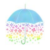 Kwiatu parasol ilustracji