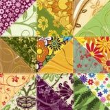 kwiatu patchwork Zdjęcia Royalty Free
