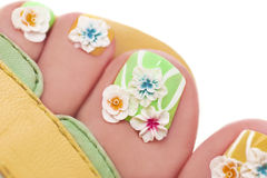 Kwiatu pedicure zdjęcie royalty free