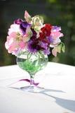 kwiatu położenia stół Zdjęcia Stock