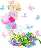 kwiatu podlewanie Obrazy Stock