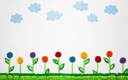 Kwiatu pola krajobraz Czujący Obrazy Royalty Free