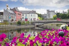 Kwiatu prążkowany nadrzeczny widok Kilkenny Fotografia Stock