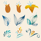 Kwiatu projekta elementy Royalty Ilustracja