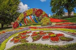 Kwiatu przedstawienia krajobrazu park w Kijów Zdjęcie Stock