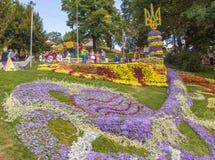 Kwiatu przedstawienia krajobrazu park w Kijów Obraz Stock
