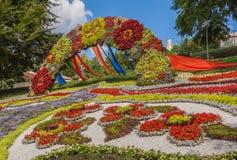 Kwiatu przedstawienia krajobrazu park w Kijów Obraz Royalty Free
