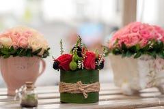 Kwiatu przygotowania zakończenie Obrazy Royalty Free