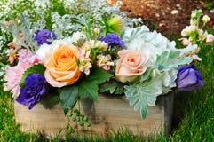 Kwiatu pudełko Fotografia Royalty Free