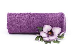 kwiatu ręcznik Zdjęcie Royalty Free