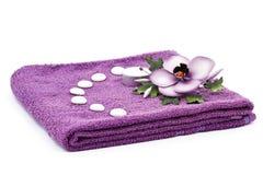 kwiatu ręcznik Obraz Royalty Free