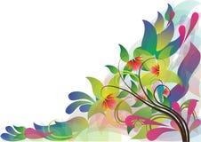 Kwiatu ramowy tło Fotografia Stock