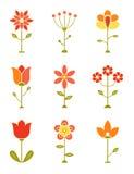 Kwiatu retro Set Fotografia Royalty Free