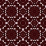 Kwiatu rocznika wzór na zmroku - czerwony tło Fotografia Stock