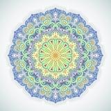 Kwiatu round ornament Obrazy Royalty Free