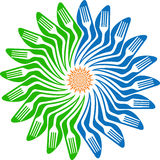 Kwiatu rozwidlenia logo Zdjęcie Stock