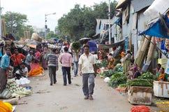 Kwiatu rynek, Kolkata, India Zdjęcia Royalty Free