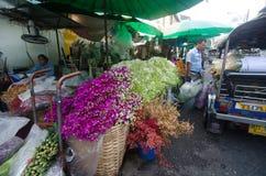Kwiatu rynek w Tajlandia Obrazy Stock